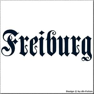 cartattoo4you AH-00662 | FREIBURG - Fraktur / Altdeutsche Schrift | Autoaufkleber Aufkleber FARBE stahlblau , in 23 weiteren Farben erhältlich , glänzend 57 x 20 cm in PREMIUM - Qualität Waschstrassenfest VERSANDKOSTENFREI