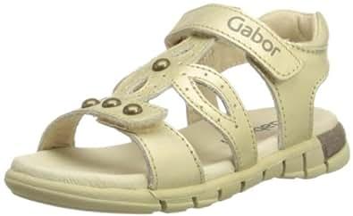 Gabor kids Patty 87 211 02 Mädchen Sandalen, Gold (champagner), EU 35