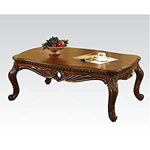 Cherry coffee table by acme furniture for Coffee tables on amazon