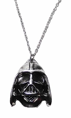 "Star Wars DARTH VADER HELMET Pewter Finish PENDANT on 20"" Chain"