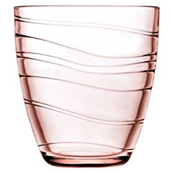 Pasabahce Workshop Mexico Tumbler,Pink,280 ml,Set of 6