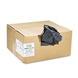 Earthsense Can Liners, 16 Gallons,0.65 Milliliters, 24 x 31, Black, 500/Carton (RNW3310)
