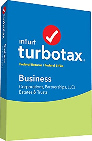 TurboTax Business 2016 Tax Software Federal + Fed Efile PC/MAC Disc