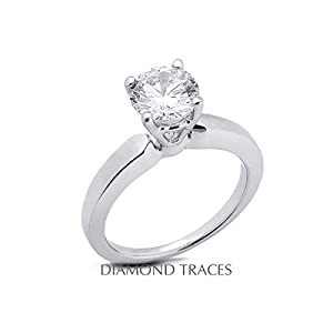 6.34 Carat Round Natural Diamond AGI Certified E-VS1 Ideal Cut 14k Yellow Gold 4-Prong Setting Basket Style Solitaire Engagement Ring