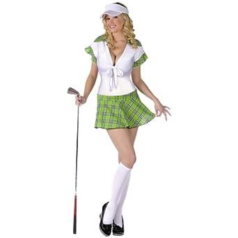 Adult Sexy Golfer Women's Halloween Costume MD/LG