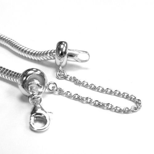 Queenberry Sterling Silver Stopper Safety Chain