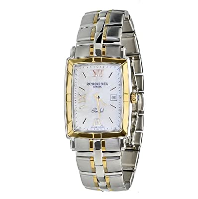 Raymond Weil Men's 9340-STG-00907 Parsifal Stainless Steel Case & 18k Gold Bracelet Watch