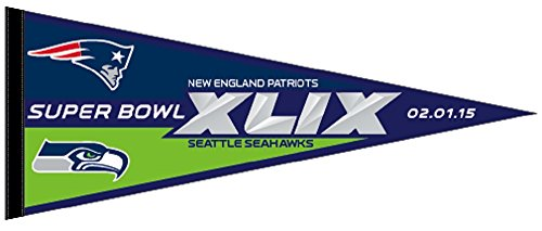 Patriots vs Seahawks Superbowl Super Bowl XLIX 49 Classic Felt Pennant (Seahawks Super Bowl 49 compare prices)