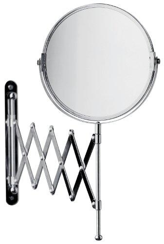 Premier Housewares Extending Bathroom Mirror, Chrome