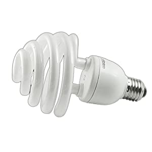 Trumpet-Type Daylight Energy Saving Bulbs For Photography 35W (175W equivalent), 5500K, E27 Bulb 220V