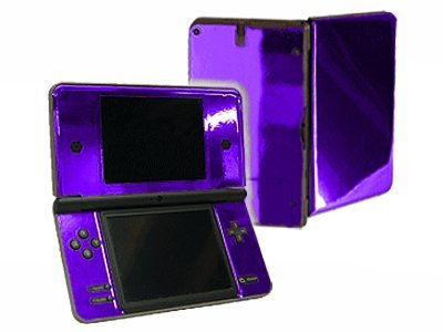 Nintendo DSi XL Color Skin - NEW - PURPLE CHROME MIRROR system skins faceplate decal mod