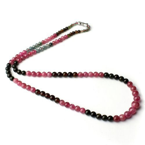 O-stone 2A Natural Rose Green Tourmaline Necklace Bracelet Mourning Air Grounding Stone Protection A4mm-8mm