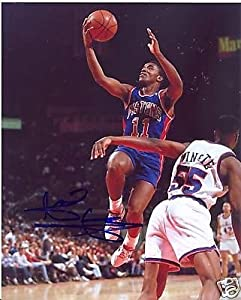Isiah Thomas Detroit Pistons Signed 8x10 Photo W COA by Hollywood Collectibles
