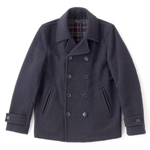 FRED PERRY(フレッドペリー) ピーコート Pea Coat ジャケット メンズ Lサイズ NAVY f2386-L-01
