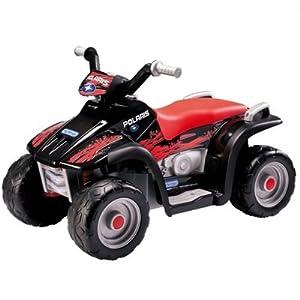 Peg Perego ED1106 - 6V Polaris Sportsman 400, schwarz/rot