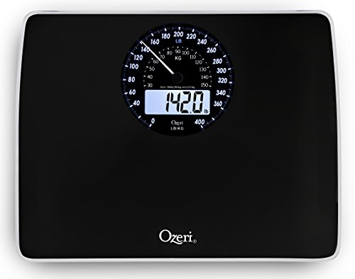 Ozeri Rev Digital Bathroom Scale with Electro-Mechanical Weight Dial, Black (Scale Dial Bathroom compare prices)