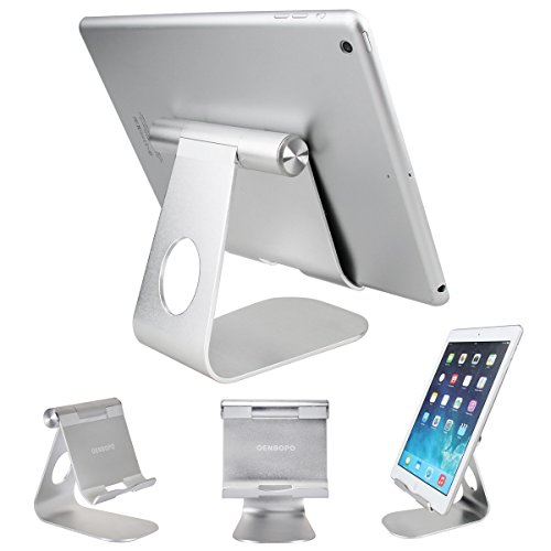 Oenbopo iPad Pro Tablet Holder Stand 360° Rotatable Aluminum Alloy Desktop Holder Tablet Stand for iPad Pro 12.9'' iPad Mini 4 3 2 iPad Air Samsung S7 S6 S5 Note 5 4 3