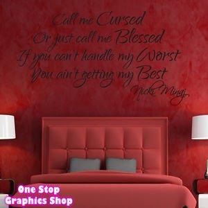 shop nicki minaj song lyrics wall art sticker lounge bedroom