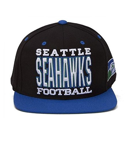 Mitchell-Ness-Xl-Type-Mens-Snapback-Nfl-Hat-Cap-Seattle-Seahawks-Blackroyal-One-Size