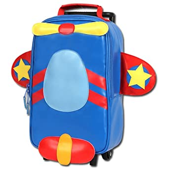 Stephen Joseph Little Boys' Rolling Backpack, Airplane, One Size