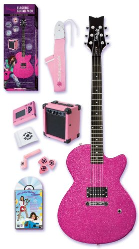 Daisy Rock Debutante Rock Candy Princess Atomic Pink Electric Guitar Pack