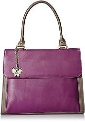 Butterflies Women's Handbag (Purple) (BNS 0569PPL)