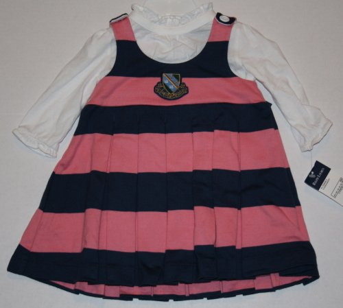 Baby Girls Polo Ralph Lauren Pink & Navy 2 Piece Dress Set - Buy Baby Girls Polo Ralph Lauren Pink & Navy 2 Piece Dress Set - Purchase Baby Girls Polo Ralph Lauren Pink & Navy 2 Piece Dress Set (Polo Ralph Lauren, Polo Ralph Lauren Apparel, Polo Ralph Lauren Toddler Girls Apparel, Apparel, Departments, Kids & Baby, Infants & Toddlers, Girls, Skirts, Dresses & Jumpers, Dresses)