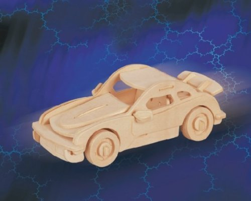 Puzzled Car Porsche911 SM 3D Jigsaw Woodcraft Kit Wooden Puzzle - 1