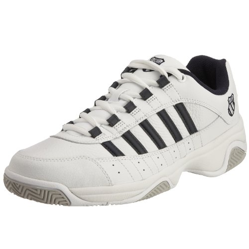 K-Swiss Men's Outshine White/Navy Tennis Shoe 01120-109-M 9 UK