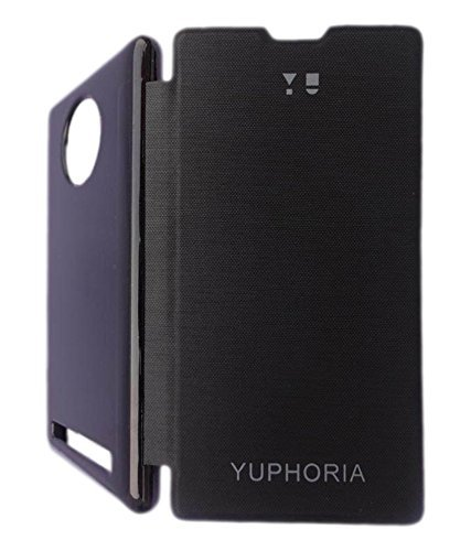 Yu Yuphoria Flip Cover & Yuphoria Tempered Glass Screen Guard, Kohinshitsu Flip Cover & Glass Screen Protector for Yuphoria
