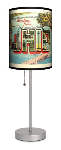 Travel - Ohio Postcard Sport Silver Lamp front-41234