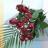 輝くバラ 赤 ディアマンテローゼ10本のブーケ(花束)【バラの花束】