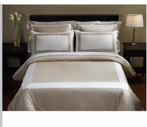 10-PC Beige & Ivory Queen size Hotel Down Alternative