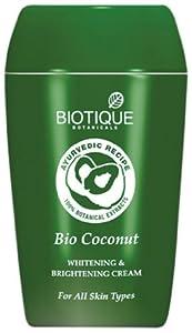 Biotique Bio Coconut Whitening & Brightening Cream For All Skin Types 1.9 oz. / 50g