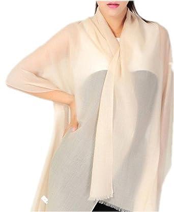 Prettystern - 200cm X 70cm 60g 200 Yarn (just like Cashmere Pashmina Fiber) 100% Wool Wrap - light Beige