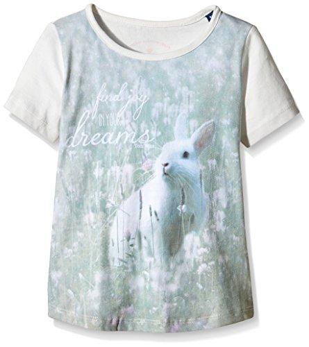 TOM TAILOR KIDS - T-Shirt tee photo optic animal/602, T-shirt Bambina, Bianco (soft clear white 2067), 8 anni (Taglia Produttore: 128/134)