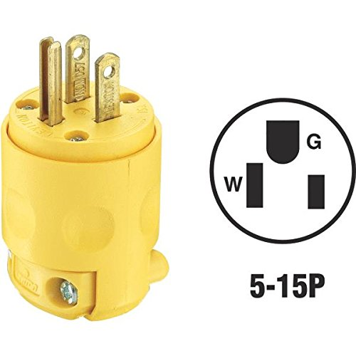 Leviton 515Pv 15 Amp 125 Volt Grounded Plug With Clamp