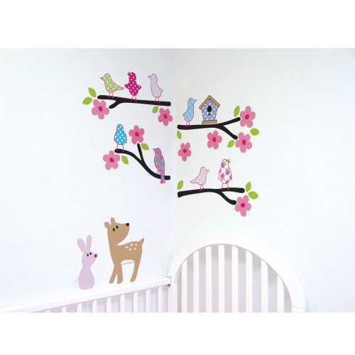 Luvable Friends Nature Theme Wall Decals, Girl front-1059054