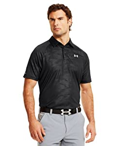 Under Armour Mens coldblack® Embossed Zip Polo by Under Armour