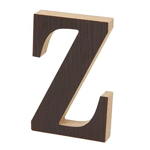 不二貿易 インテリア 木製アルファベット  オブジェ イニシャル  ブラウン Z 31627
