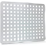 SET OF 2 - Clear Sink Mat Basin Protector, Perforated Design