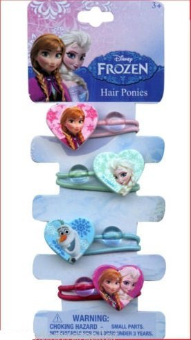 Disney Frozen 4 Hair Ponytails
