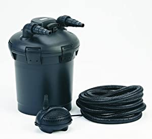 Pontec pondopress pond filter set garden for Pond filter basket