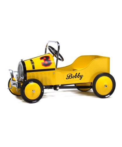 Morgan Cycle Ride On Toys Pedal Cars For Kids Racer Yellow