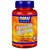 NOW Foods - Pyruvate 1000Mg 90 Tabs (Pack of 2)