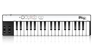 IK Multimedia 2108054395, iRig KEYS Keyboard Controller for iPhone, iPad, iPod Touch & Mac e PC, Colore Nero