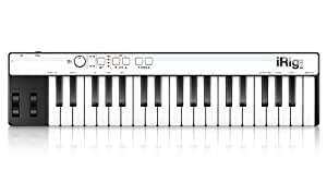 IK Multimedia iRig Keys 30 Pin Keyboard Controller Tastiera Portatile Accessorio per iPhone/iPad/iPod Touch/Mac/PC, Nero