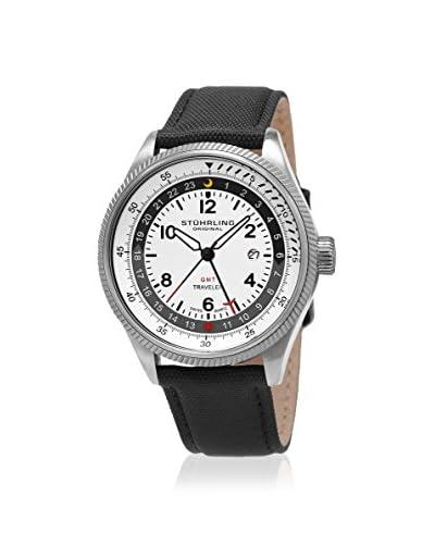 Stührling Original Men's 789.01 Turbine 789 White/Black Leather Watch