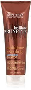 John Frieda Brilliant Brunette Multi-tone Revealing Moisture Shampoo for Natural or Highlighted Brunette, 8.45 Ounce (Pack of 2)