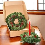 Teufel Fresh Holly Wreath & Centerpiece Combo